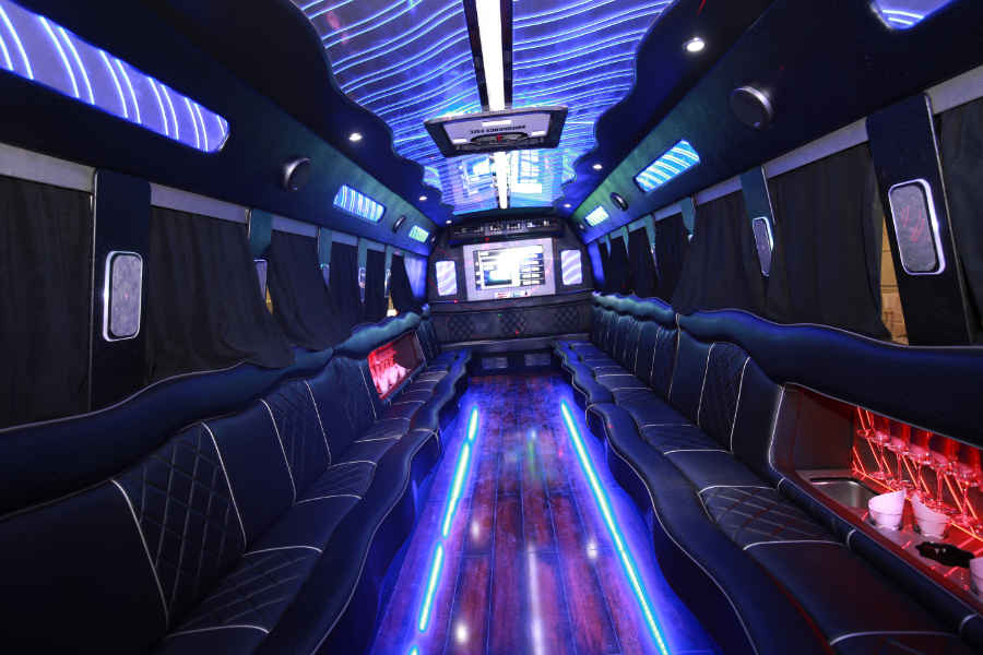 Party buses are great for large groups